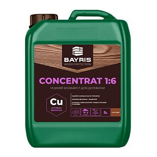 """Мідний біозахист для деревини """"Concentrat 1:6"""" (Коричневий)"""