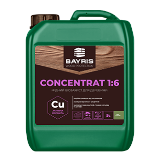 """Мідний біозахист для деревини """"Concentrat 1:6"""" (Сіро-зелений)"""